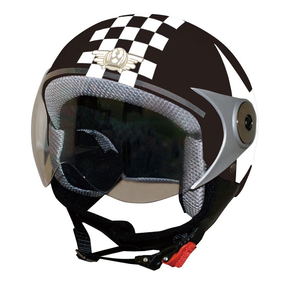 10000円以上送料無料 ダムトラックス(DAMMTRAX) バイクヘルメット ダムキッズ ポポGT BLACK/STAR 【スポーツ・アウトドア レビュー投稿で次回使える2000円クーポン全員にプレゼントカー・自転車】