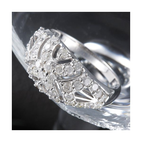 10000円以上送料無料 K18 1ctアンティーク調パヴェリング 9号 ファッション リング・指輪 天然石 ダイヤモンド レビュー投稿で次回使える2000円クーポン全員にプレゼント