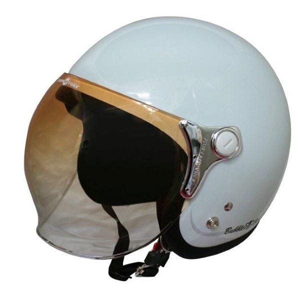 ダムトラックス(DAMMTRAX) ジェットヘルメット BUBBLE-BEE P.ホワイト 生活用品・インテリア・雑貨 バイク用品 ヘルメット レビュー投稿で次回使える2000円クーポン全員にプレゼント