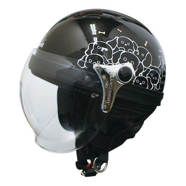 10000円以上送料無料 ダムトラックス(DAMMTRAX) ハーフヘルメット CARINA HARF(カリーナハーフ) ブラック/DOG レディース(57cm~58cm) 生活用品・インテリア・雑貨 バイク用品 ヘルメット レビュー投稿で次回使える2000円クーポン全員にプレゼント