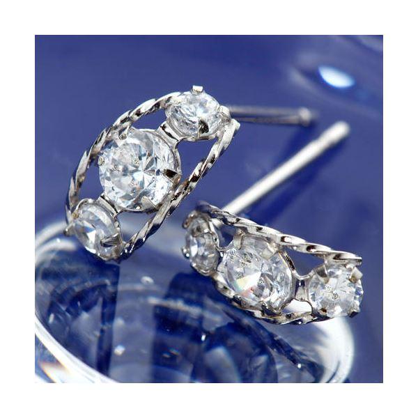 10000円以上送料無料 PTローブダイヤモンドピアス プラチナ ファッション ピアス・イヤリング 天然石 ダイヤモンド レビュー投稿で次回使える2000円クーポン全員にプレゼント