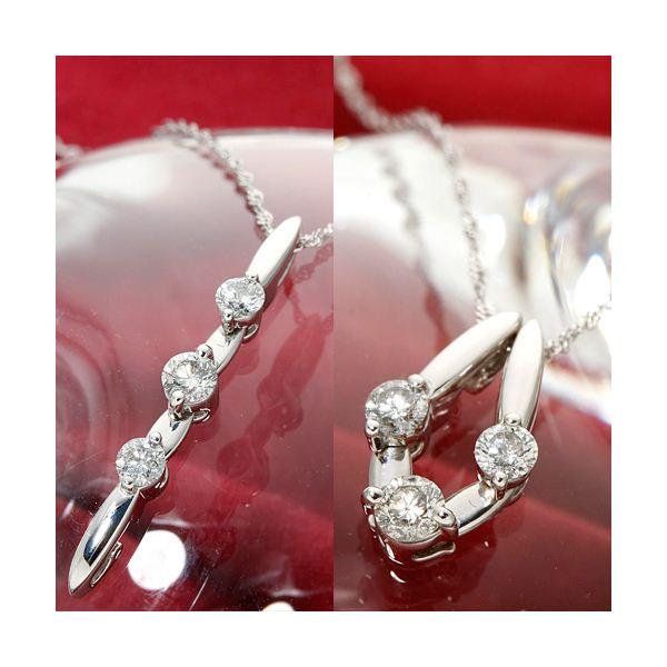 10000円以上送料無料 K18/WG トリプルダイヤモンド2WAYペンダント ファッション ネックレス・ペンダント 天然石 ダイヤモンド レビュー投稿で次回使える2000円クーポン全員にプレゼント