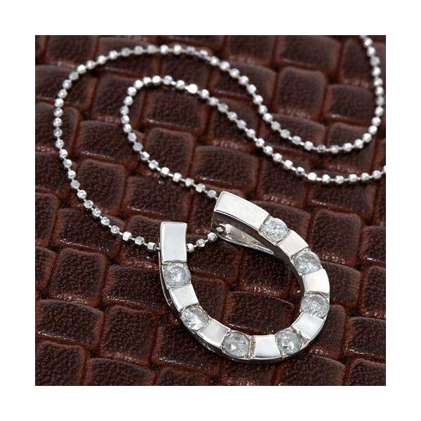 10000円以上送料無料 0.4ctダイヤモンド 馬蹄ペンダント ファッション ネックレス・ペンダント 天然石 ダイヤモンド レビュー投稿で次回使える2000円クーポン全員にプレゼント