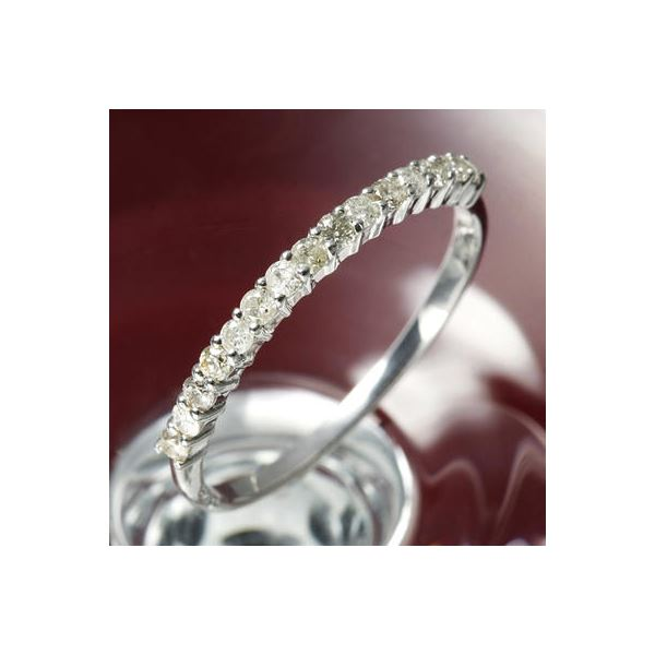 K10ダイヤリング 指輪 エタニティリング 15号 ファッション リング・指輪 天然石 ダイヤモンド レビュー投稿で次回使える2000円クーポン全員にプレゼント
