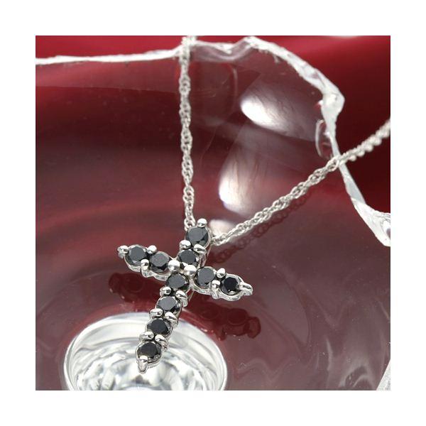 K18 0.3ctブラックダイヤモンドクロスペンダント ファッション ネックレス・ペンダント 天然石 ダイヤモンド レビュー投稿で次回使える2000円クーポン全員にプレゼント