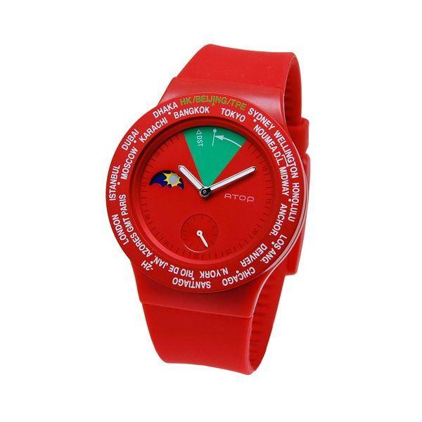 ATOP(エートップ) ワールドタイム ウォッチ VWA-05 レッド ファッション 腕時計 その他の腕時計 レビュー投稿で次回使える2000円クーポン全員にプレゼント