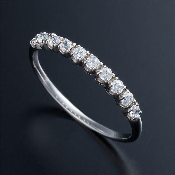 10000円以上送料無料 K10ホワイトゴールド 0.2ctハーフエタニティリング 17号 ファッション リング・指輪 天然石 ダイヤモンド レビュー投稿で次回使える2000円クーポン全員にプレゼント