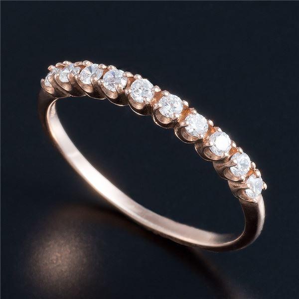 10000円以上送料無料 K10ピンクゴールド 0.2ctハーフエタニティリング 21号 ファッション リング・指輪 天然石 ダイヤモンド レビュー投稿で次回使える2000円クーポン全員にプレゼント