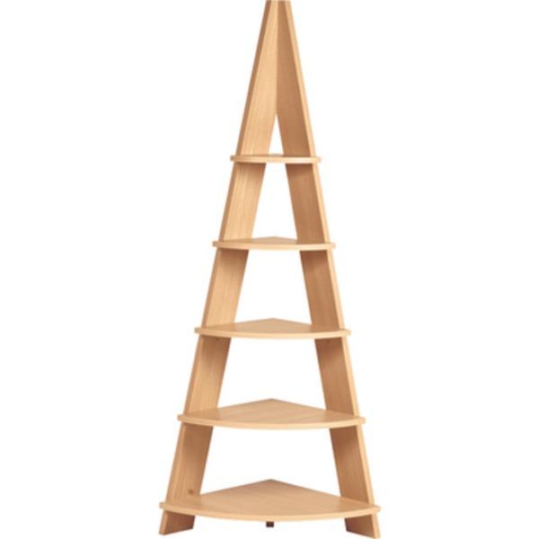 コーナーラック 木製 5段 高さ137cm NWS-560NA ナチュラル 生活用品・インテリア・雑貨 インテリア・家具 収納家具 フリーラック レビュー投稿で次回使える2000円クーポン全員にプレゼント