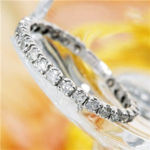 K18WG(18金ホワイトゴールド)ダイヤリング エタニティリング(指輪)計0.5ct 125401 17号 ファッション リング・指輪 天然石 ダイヤモンド レビュー投稿で次回使える2000円クーポン全員にプレゼント
