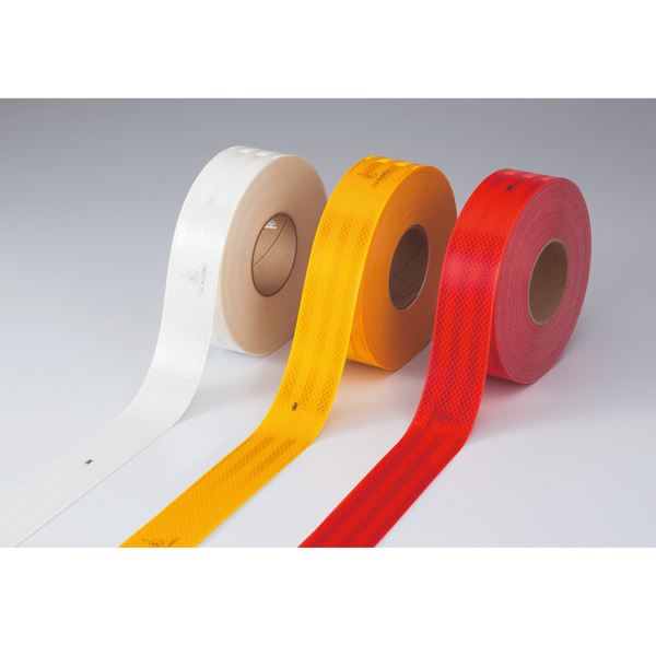 高輝度反射テープ SL983-Y ■カラー:黄 55mm幅【代引不可】 生活用品・インテリア・雑貨 文具・オフィス用品 テープ・接着用具 レビュー投稿で次回使える2000円クーポン全員にプレゼント