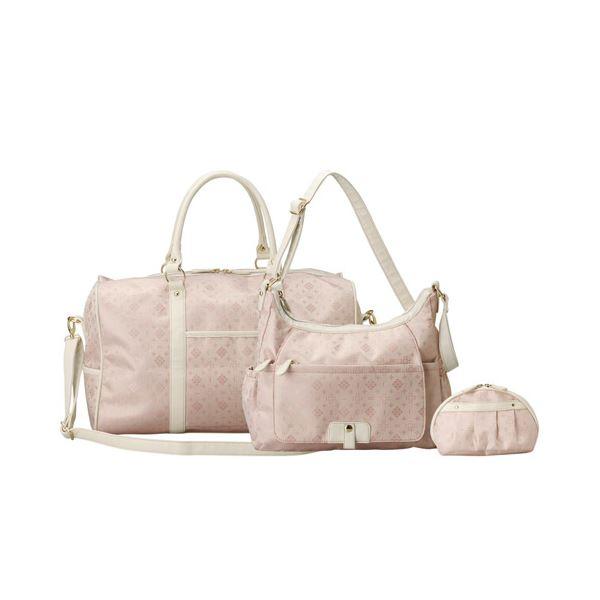 10000円以上送料無料 ボストン3点セット ピンク ファッション バッグ ボストンバッグ レビュー投稿で次回使える2000円クーポン全員にプレゼント