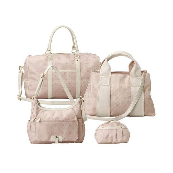 10000円以上送料無料 ボストン4点セット ピンク ファッション バッグ ボストンバッグ レビュー投稿で次回使える2000円クーポン全員にプレゼント