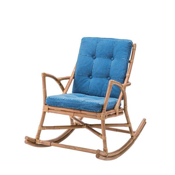 10000円以上送料無料 ラタン製ロッキングチェア/リラックスチェア 【肘付き】 張地:コットン TTF-906 生活用品・インテリア・雑貨 インテリア・家具 椅子 その他の椅子 レビュー投稿で次回使える2000円クーポン全員にプレゼント