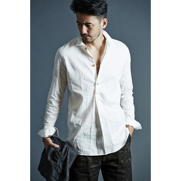 VADEL swedish pull-over shirts WHITE サイズ46【代引不可】 ファッション トップス シャツ メンズシャツ レビュー投稿で次回使える2000円クーポン全員にプレゼント