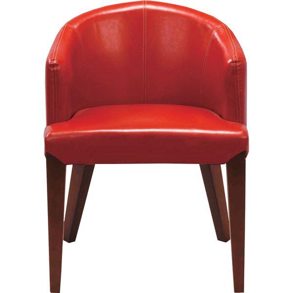 10000円以上送料無料 レトロ調ダイニングチェア/リビングチェア 【座面高44cm】 レッド HOC-55RD 生活用品・インテリア・雑貨 インテリア・家具 椅子 ダイニングチェア レビュー投稿で次回使える2000円クーポン全員にプレゼント