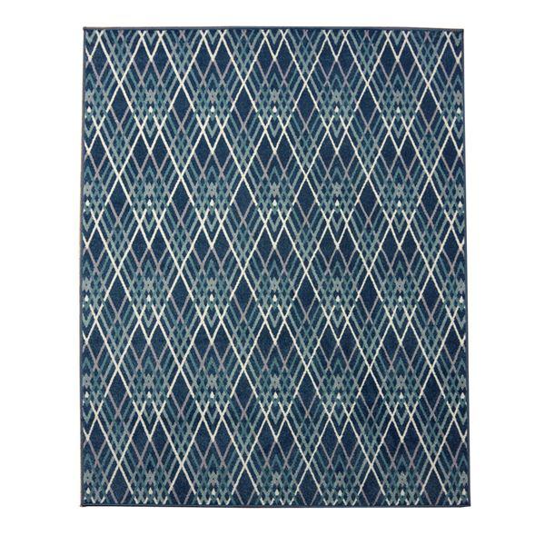 エジプト製 ウィルトン織り カーペット 絨毯 『オルメ RUG』 ブルー 約133×190cm 生活用品・インテリア・雑貨 インテリア・家具 カーペット・マット その他のカーペット・マット レビュー投稿で次回使える2000円クーポン全員にプレゼント