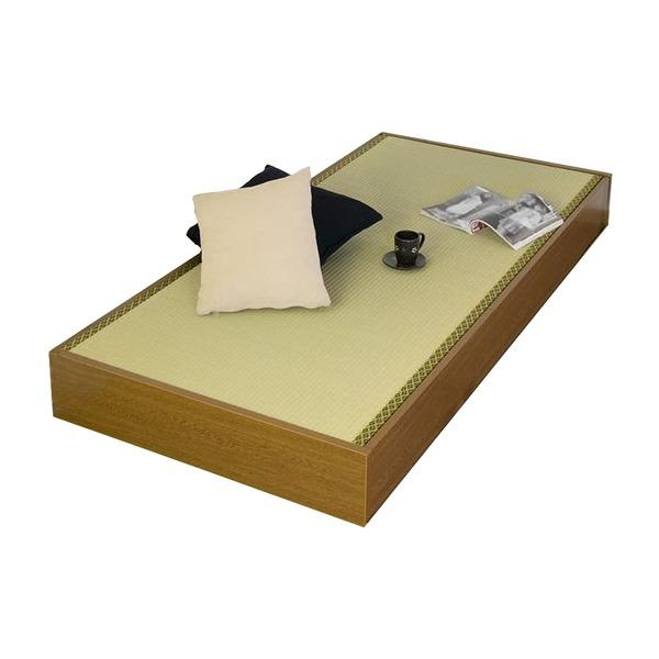 ヘッドレス収納畳ベッド セミシングル   【代引不可】 生活用品・インテリア・雑貨 寝具 ベッド・ソファベッド すのこベッド・畳ベッド その他のすのこベッド・畳ベッド レビュー投稿で次回使える2000円クーポン全員にプレゼント