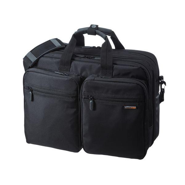 10000円以上送料無料 サンワサプライ 3WAYビジネスバッグ(出張用) BAG-3WAY21BK ファッション バッグ リクルート・ビジネスバッグ レビュー投稿で次回使える2000円クーポン全員にプレゼント