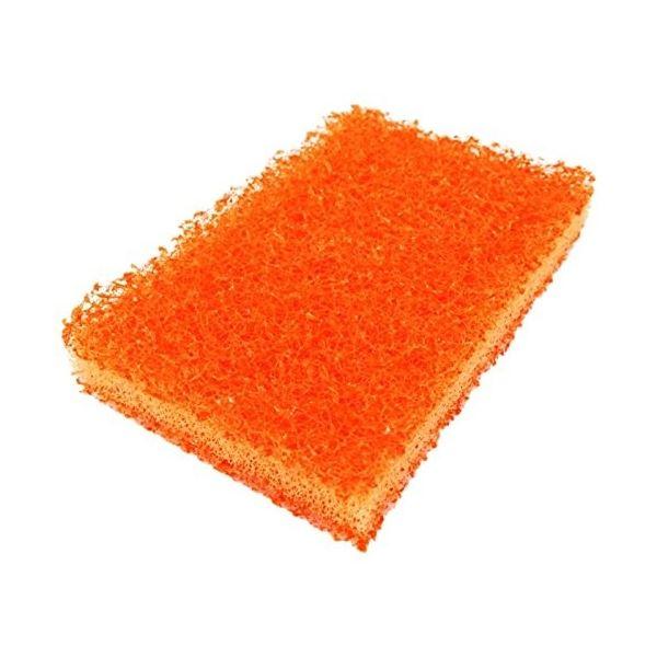 (まとめ)オーエ 傷つきにくいコゲとりたわし オレンジ ダブル 54531 (たわし) 【200個セット】 生活用品・インテリア・雑貨 キッチン・食器 たわし・スポンジ・ブラシ レビュー投稿で次回使える2000円クーポン全員にプレゼント