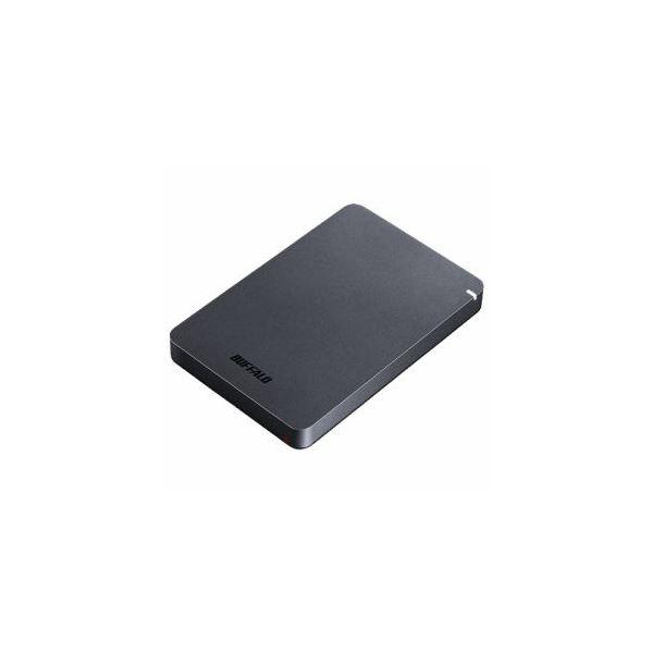 BUFFALO ポータブルHDD ブラック 1TB HD-PGF1.0U3-BKA AV・デジモノ パソコン・周辺機器 HDD レビュー投稿で次回使える2000円クーポン全員にプレゼント