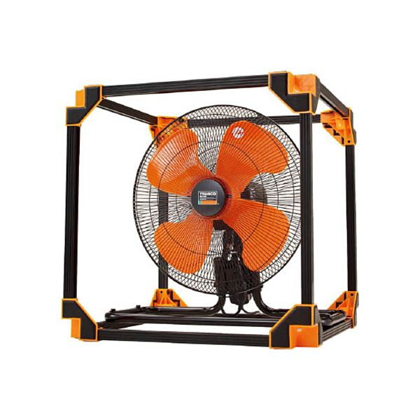 TRUSCO 全閉式アルミハネ工場扇ゼフィール キューブタイプ TFZPA-45Z 1台 家電 季節家電(冷暖房・空調) 扇風機・サーキュレーター レビュー投稿で次回使える2000円クーポン全員にプレゼント