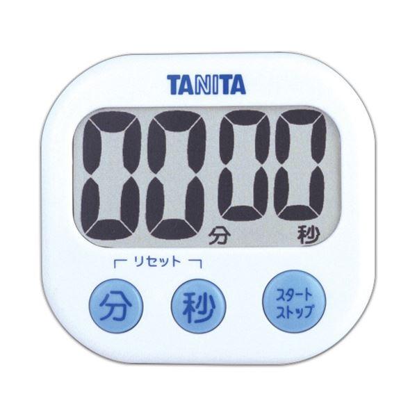 (まとめ) タニタ でか見えタイマー ホワイト TD-384WH 1個 【×10セット】 生活用品・インテリア・雑貨 その他の生活雑貨 レビュー投稿で次回使える2000円クーポン全員にプレゼント