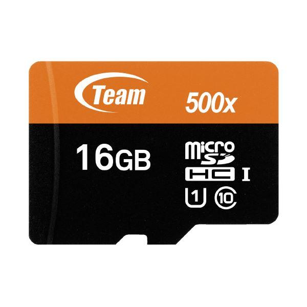 (まとめ)TEAM microSDHCカード 16GB TUSDH16GUHS03(×10セット) AV・デジモノ パソコン・周辺機器 USBメモリ・SDカード・メモリカード・フラッシュ SDカード レビュー投稿で次回使える2000円クーポン全員にプレゼント