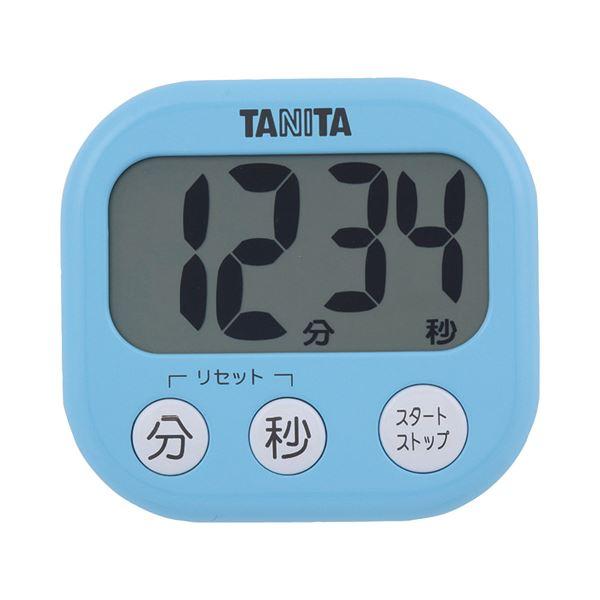 (まとめ) タニタ でか見えタイマー ブルー TD-384BL 1個 【×10セット】 生活用品・インテリア・雑貨 その他の生活雑貨 レビュー投稿で次回使える2000円クーポン全員にプレゼント