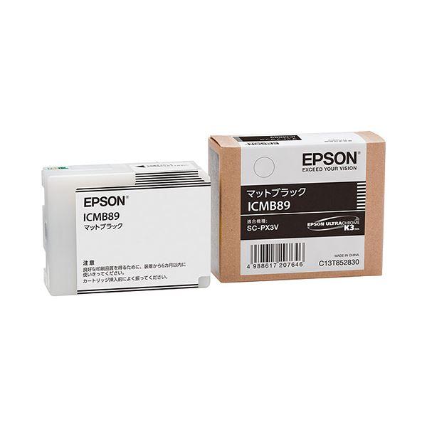 (まとめ) エプソン EPSON インクカートリッジ マットブラック ICMB89 1個 【×10セット】 AV・デジモノ パソコン・周辺機器 インク・インクカートリッジ・トナー インク・カートリッジ エプソン(EPSON)用 レビュー投稿で次回使える2000円クーポン全員にプレゼント