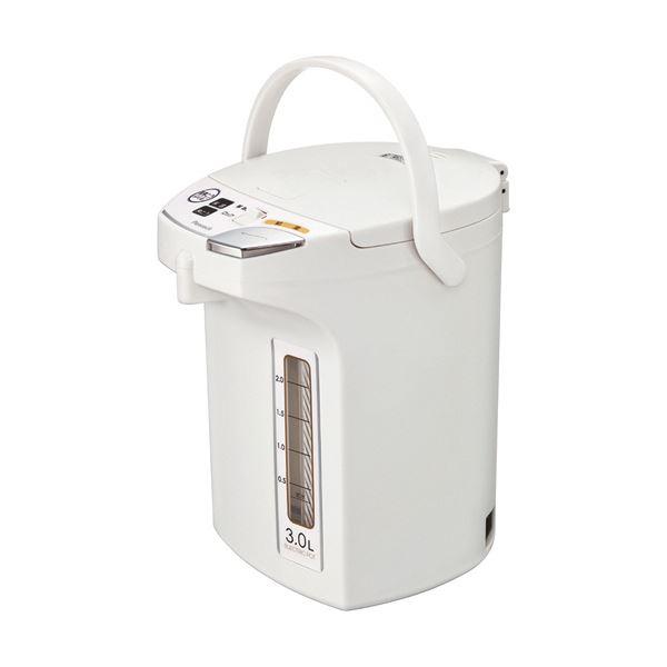 【送料無料】ピーコック 電動給湯ポット 3.0Lホワイト WMJ-30W 1台 家電 キッチン家電 ポット・電気ケトル レビュー投稿で次回使える2000円クーポン全員にプレゼント