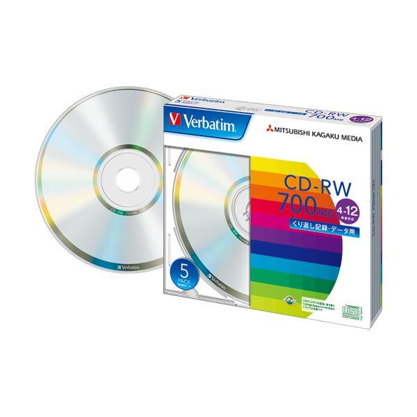 (まとめ) バーベイタム データ用CD-RW700MB 4-12倍速 ブランドシルバー 5mmスリムケース SW80EU5V1 1パック(5枚) 【×10セット】 AV・デジモノ パソコン・周辺機器 その他のパソコン・周辺機器 レビュー投稿で次回使える2000円クーポン全員にプレゼント