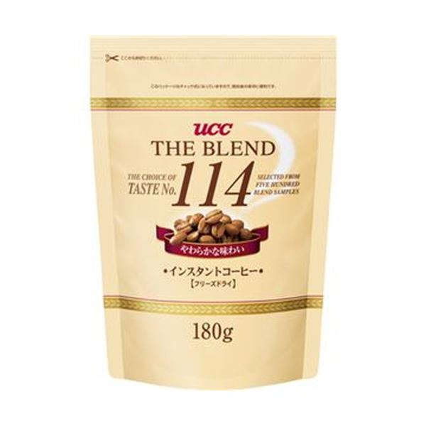 (まとめ)UCC ザ・ブレンド 114 詰替用180g 1袋【×10セット】 フード・ドリンク・スイーツ コーヒー インスタントコーヒー レビュー投稿で次回使える2000円クーポン全員にプレゼント