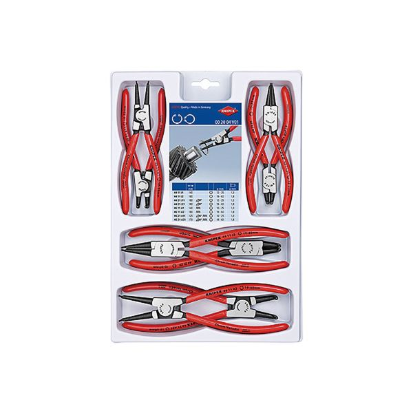 KNIPEX(クニペックス) 002004V01 スナップリングプライヤーセット(8本組) スポーツ・レジャー DIY・工具 その他のDIY・工具 レビュー投稿で次回使える2000円クーポン全員にプレゼント