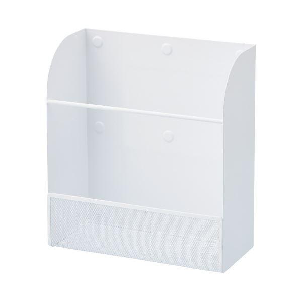(まとめ)LIHITLAB マグネットラックL[縦]A-7453-0 白(×5セット) 生活用品・インテリア・雑貨 文具・オフィス用品 マグネット・磁石 レビュー投稿で次回使える2000円クーポン全員にプレゼント