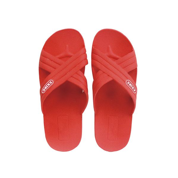 (まとめ)ニッポンスリッパ クロスサンダル レッド L 25.0cm【×30セット】 ファッション 靴・シューズ サンダル その他のサンダル レビュー投稿で次回使える2000円クーポン全員にプレゼント