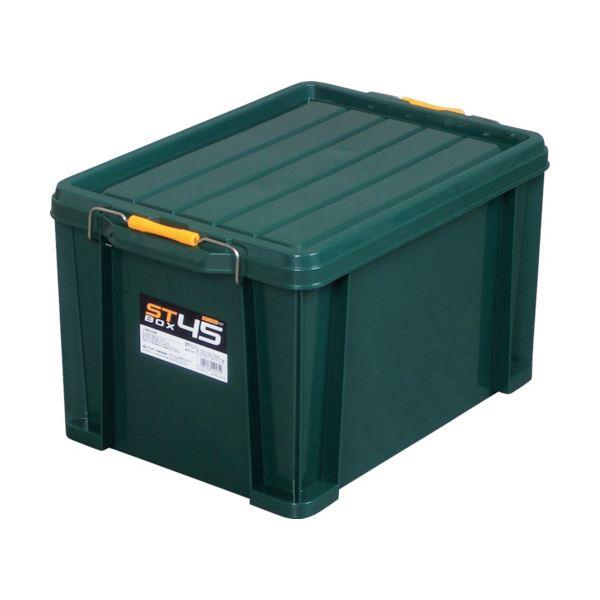 (まとめ) アステージ STボックス DKグリーン#45 ST-45DGL 1個 【×5セット】 生活用品・インテリア・雑貨 日用雑貨 収納用品 レビュー投稿で次回使える2000円クーポン全員にプレゼント