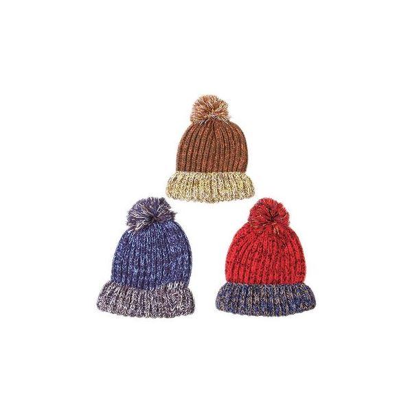 変わり編みニット帽子 ビーニー 3色アソート 10個セット ファッション 帽子・キャップ・ハット その他の帽子・キャップ・ハット レビュー投稿で次回使える2000円クーポン全員にプレゼント