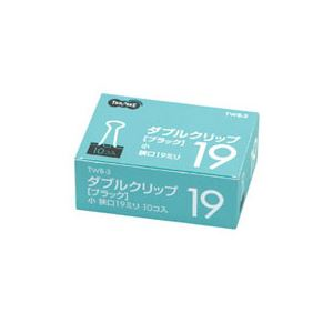 (まとめ) TANOSEE ダブルクリップ 小 口幅19mm ブラック 1セット(300個:10個×30箱) 【×10セット】 生活用品・インテリア・雑貨 文具・オフィス用品 クリップ レビュー投稿で次回使える2000円クーポン全員にプレゼント