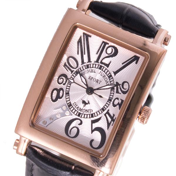 5000円以上 ミッシェルジョルダン MICHEL JURDAIN  クオーツ レディース 腕時計 SL-3000-7PG ホワイト 【腕時計 国内正規品】 レビュー投稿で次回使える2000円クーポン全員にプレゼント