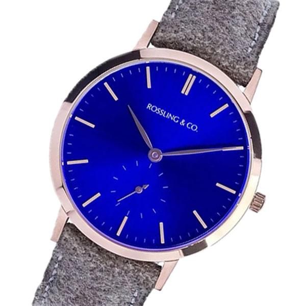 5000円以上 ROSSLING ロスリング MODERN 36MM Aberdeen クオーツ ユニセックス 腕時計 RO-003-006 ライトブラウン/ブルー 【腕時計 海外インポート品】 レビュー投稿で次回使える2000円クーポン全員にプレゼント