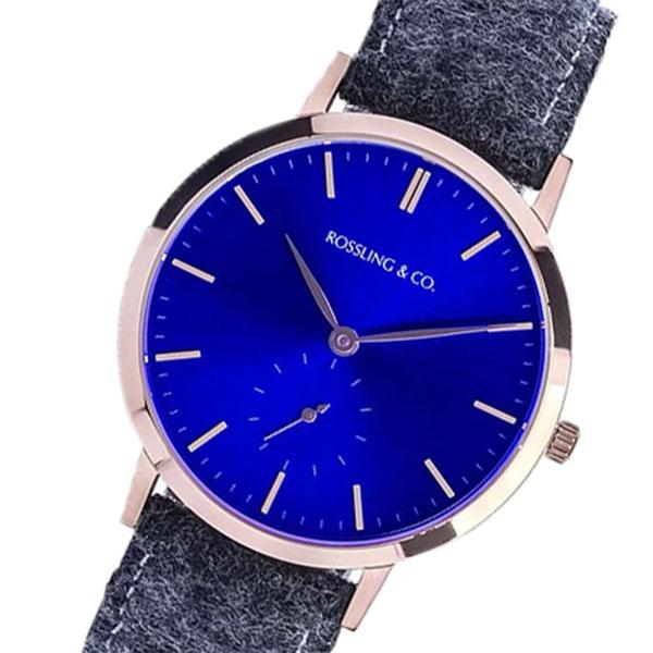 5000円以上 ROSSLING ロスリング MODERN 36MM GLENCOE レディース 腕時計 RO-003-015 ダークグレー/ブルー 【腕時計 海外インポート品】 レビュー投稿で次回使える2000円クーポン全員にプレゼント