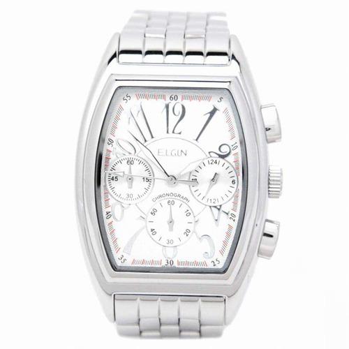 10000円以上送料無料 エルジン エレガントクロノグラフ ホワイト FK1215S(1コ入) 家電 測定器 時計・腕時計 レビュー投稿で次回使える2000円クーポン全員にプレゼント