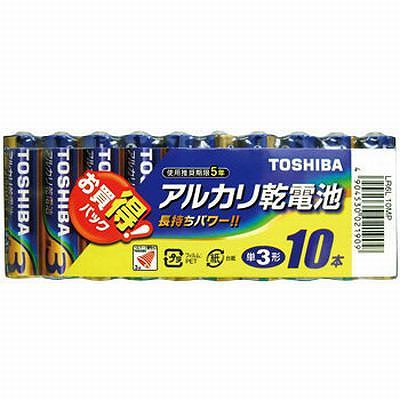 レビュー投稿で次回使える2000円クーポン全員にプレゼント 東芝 アルカリ乾電池(単3型 10本入) 100セット LR6L10MP-SET100 【生活家電\電池類\乾電池\アルカリ乾電池\単3形】