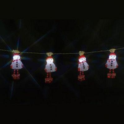 レビュー投稿で次回使える2000円クーポン全員にプレゼント ジェフコム LEDデザインストリングライト AC24V-2VA スノーマン STM-E09-02 【生活家電\照明器具・部材\照明器具\イルミネーションライト\LEDストリング】