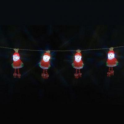 レビュー投稿で次回使える2000円クーポン全員にプレゼント ジェフコム LEDデザインストリングライト AC24V-2VA サンタクロース STM-E09-01 【生活家電\照明器具・部材\照明器具\イルミネーションライト\LEDストリング】