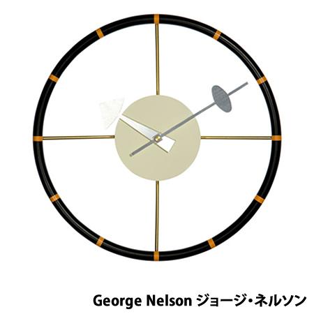 【代引不可】ジョージネルソン ネルソンクロック ステアリングホイールクロック ミッドセンチュリー デザイナーズ リプロダクト 時計 クロック