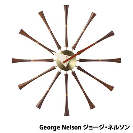 【代引不可】ジョージネルソン ネルソンクロック スピンドルクロック ミッドセンチュリー デザイナーズ リプロダクト 時計 クロック