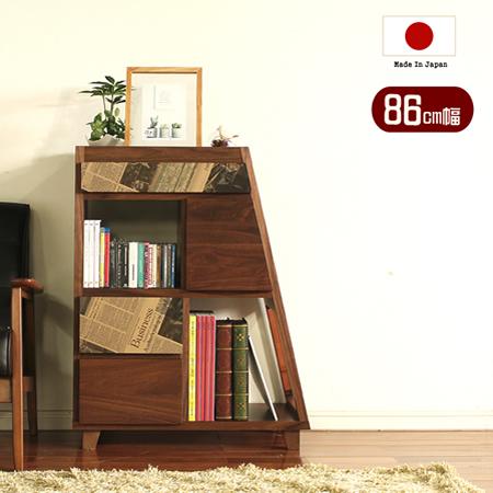 【代引不可】オープンシェルフ ハイシェルフ 『 70シェルフ COCOA 』 国産 日本製 大川家具 おしゃれ 木製 リビング収納 ブックシェルフ 本棚