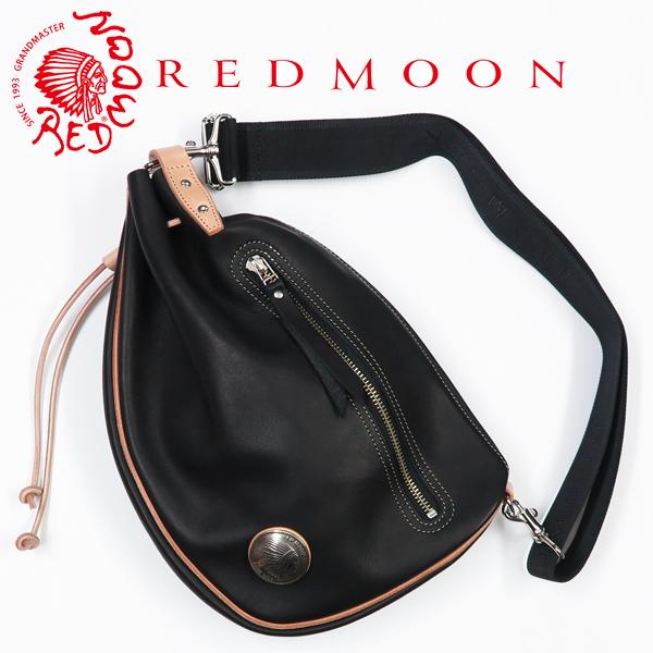 レッドムーン REDMOON レザー バイカーズヒップバッグ グローブレザー 革 コンチョ RM-BBS